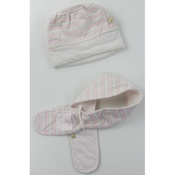 Bonnet + écharpe - NOUKIE'S - 3-6 mois