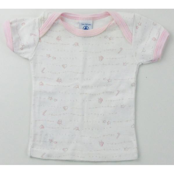 T-Shirt - PETIT BATEAU - 1-3 mos (60)