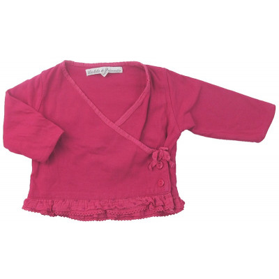 Gilet - BUISSONIERE - 3-6 mois - Rose