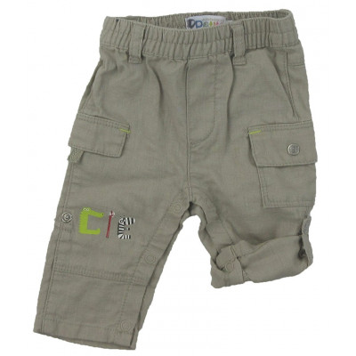 Pantalon convertible en lin - COMPAGNIE DES PETITS - 3 mois