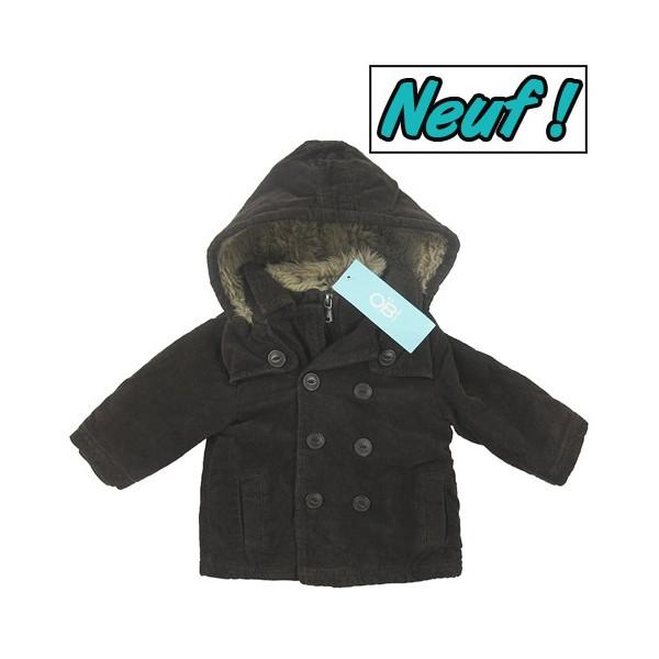 Manteau neuf doublé polaire - OBAÏBI - 6 mois (67)