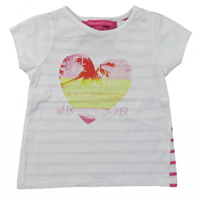 T-Shirt - WEEKEND A LA MER - 3 ans