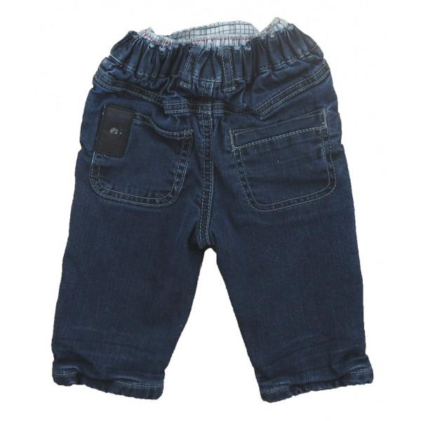 Jeans gevoerd met fleece - GRAIN DE BLÉ - 6 maanden (67)