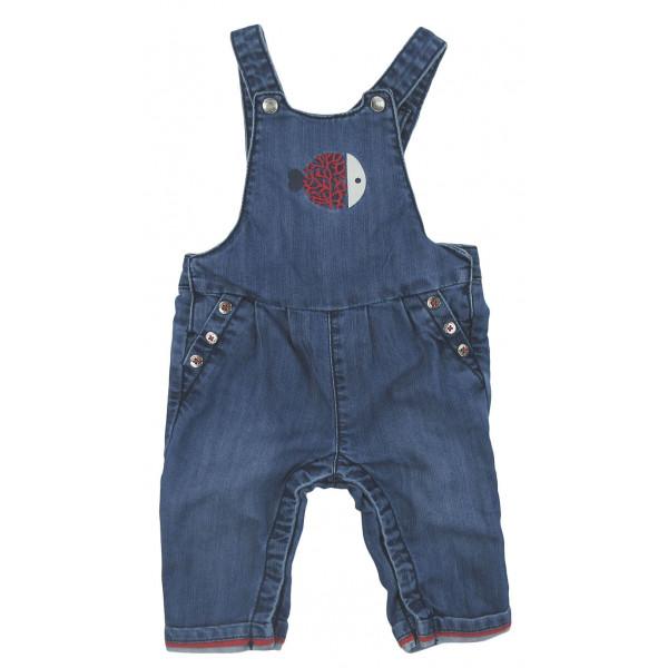 Salopette en jeans - OBAÏBI - 6 mois (68)