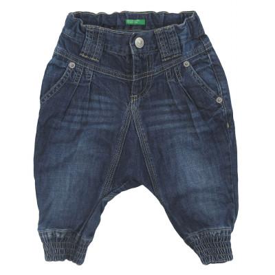 Jeans - BENETTON - 9-12 mois (74)