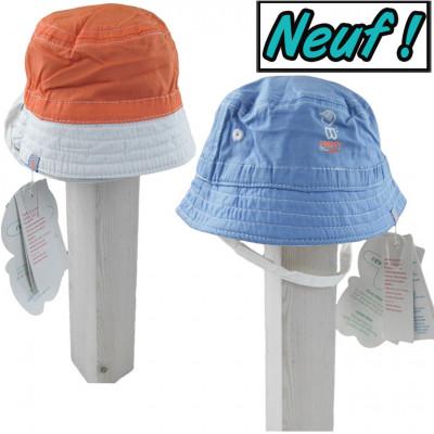 Chapeau neuf réversible - OBAÏBI - 1-3 mois (41cm)
