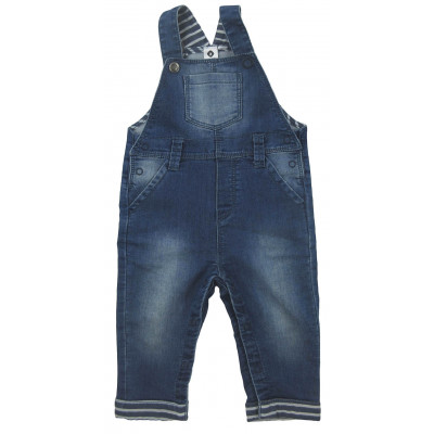 Salopette jeans - GRAIN DE BLÉ - 12 mois (74)