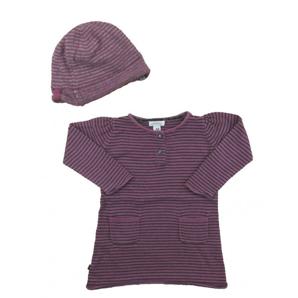 Pull + bonnet - Obaibi - 6 mois