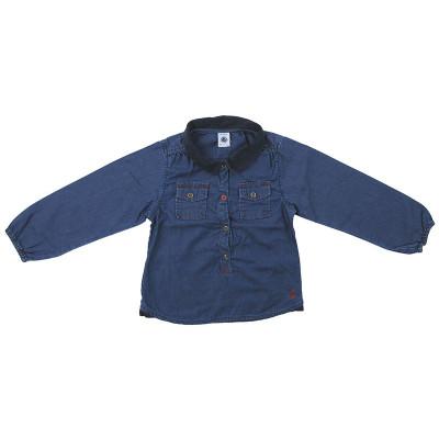 Blouse en jeans - PETIT BATEAU - 4 ans (104)