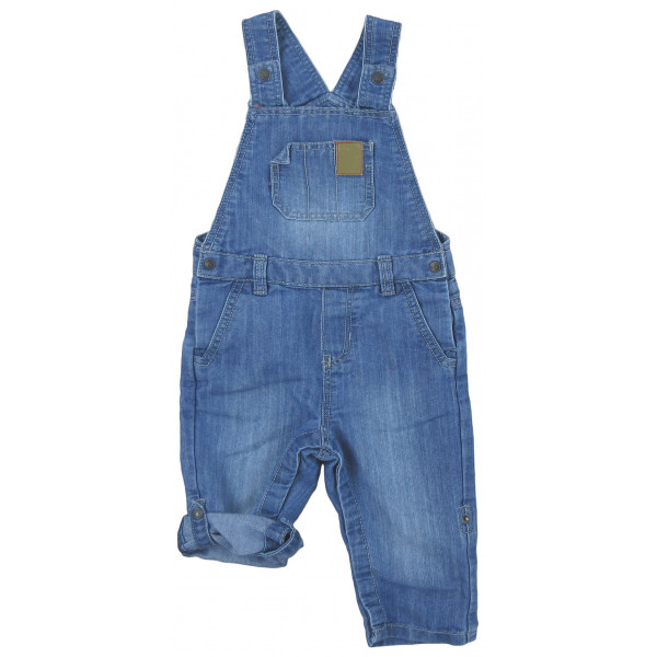 Salopette en jeans convertible - OBAÏBI - 12 mois (74)