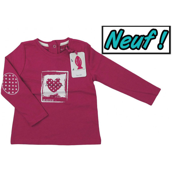T-Shirt neuf - WEEKEND A LA MER - 23 mois