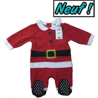 """Pyjama neuf - """"Noël"""" - 6 mois (67)"""