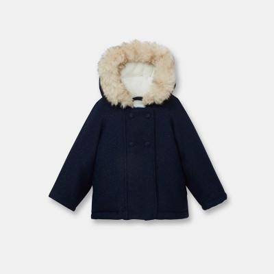 Manteau doublé polaire - OBAÏBI - 12 mois (74)