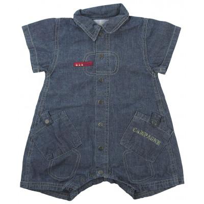 Combi-Short en jeans - BERLINGOT - 12 mois (74)