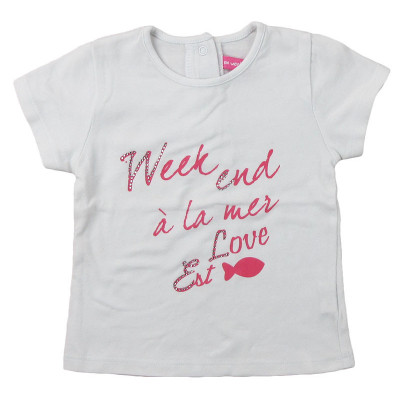 T-Shirt - WEEKEND A LA MER - 6 mois