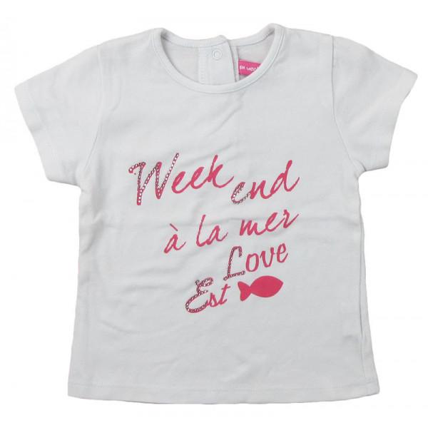 T-Shirt - WEEKEND A LA MER - 6 mois