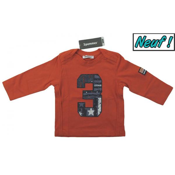 T-Shirt neuf - 3 POMMES - 6 mois (68)