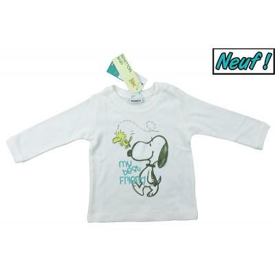 T-Shirt neuf - BENETTON - 6-9 mois (68)