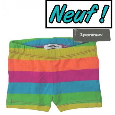 Short neuf - 3 POMMES - 6 mois (68)
