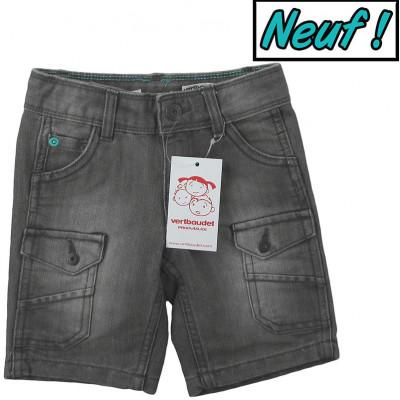 Short en jeans neuf - VERTBAUDET - 2 ans (86)