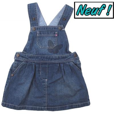 Robe en jeans neuve - GRAIN DE BLÉ - 6 mois (68)