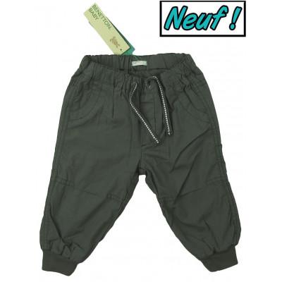 Pantalon doublé neuf - BENETTON - 9-12 mois (74)