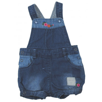 Salopette short en jeans - - - 6 mois (67)