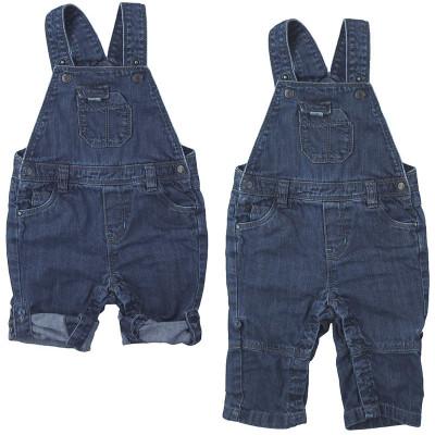 Salopette convertible en jeans - OBAÏBI - 6 mois (68)