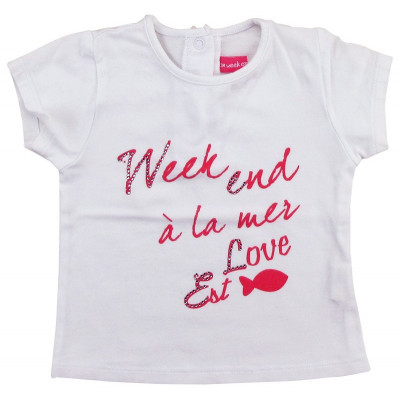 T-Shirt - WEEKEND A LA MER - 3 mois