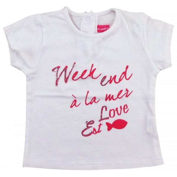 T-Shirt - WEEKEND A LA MER - 3 mois