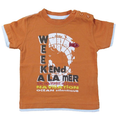 T-Shirt - WEEKEND A LA MER - 12 mois